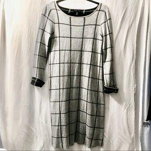 Adrienne Vittadini | Grey Sweater Dress